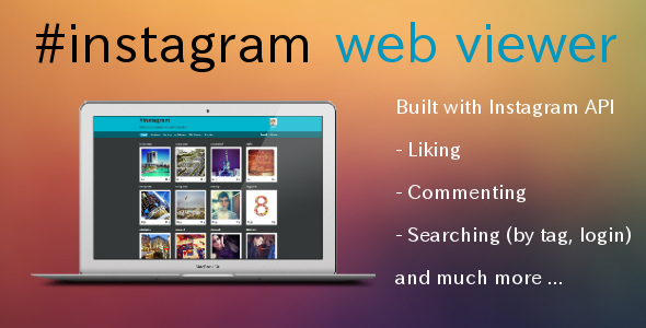 CodeCanyon Instagram Web Viewer 4362527