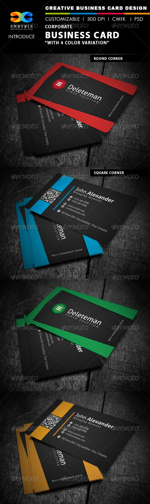 GraphicRiver Corporate Business Card 4244646