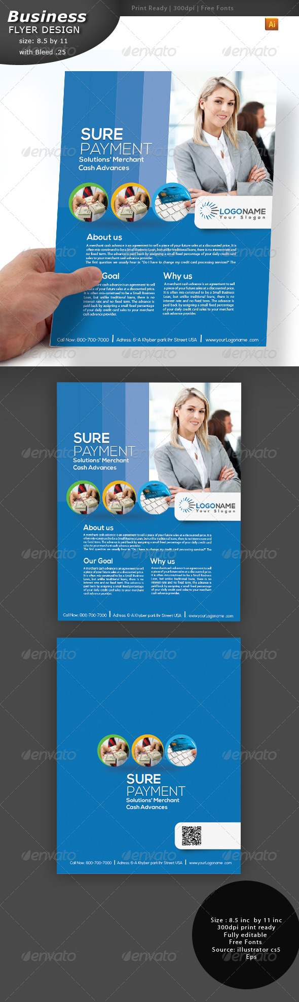 GraphicRiver Business Flyer Two Sided 3484124
