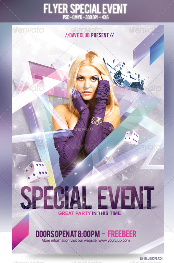 Flyer Special Event - Clubs & Parties Events
