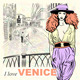 Vector Fashion Girl on a Venice Background - GraphicRiver Item for Sale