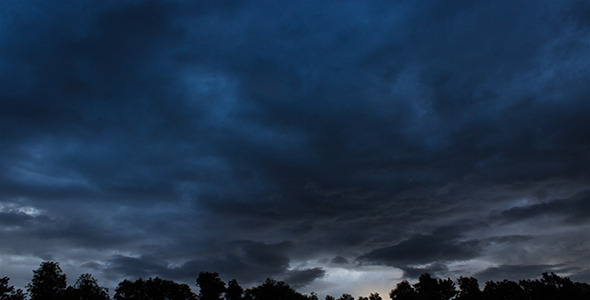 Morning Storm Passing By Time Lapse 1