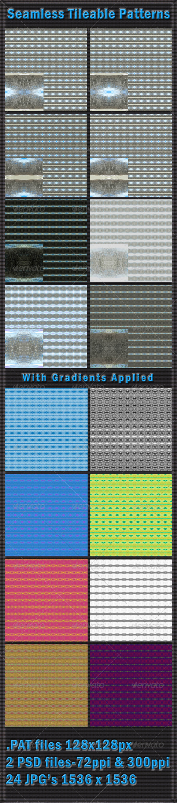 GraphicRiver 8 Seamless Tileable Patterns 4363194