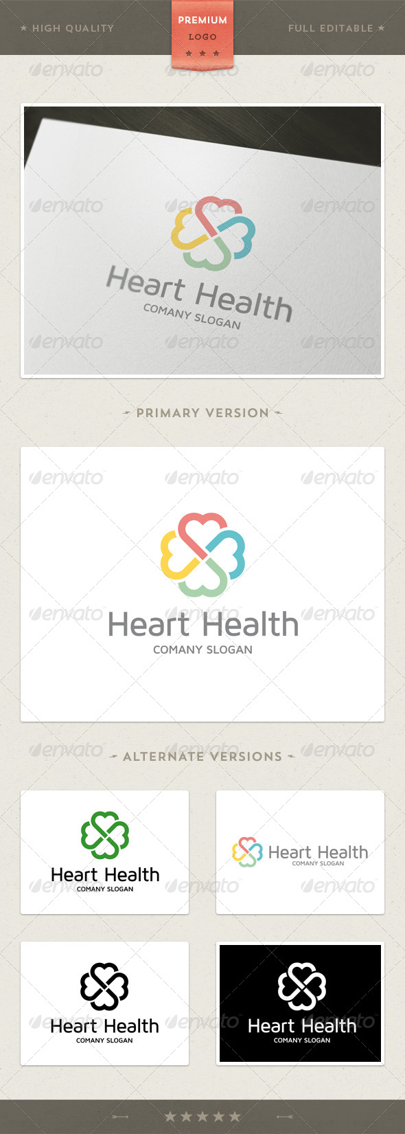 GraphicRiver Heart Health Logo Template 4363210