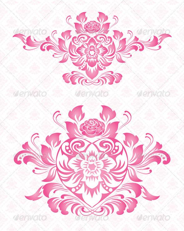 GraphicRiver Ornament Heart 4363414