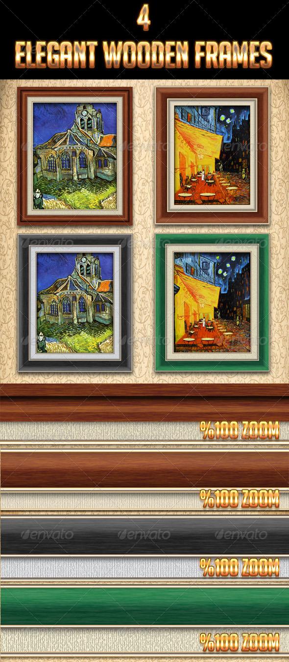 GraphicRiver 4 Elegant Wooden Frames 4363557
