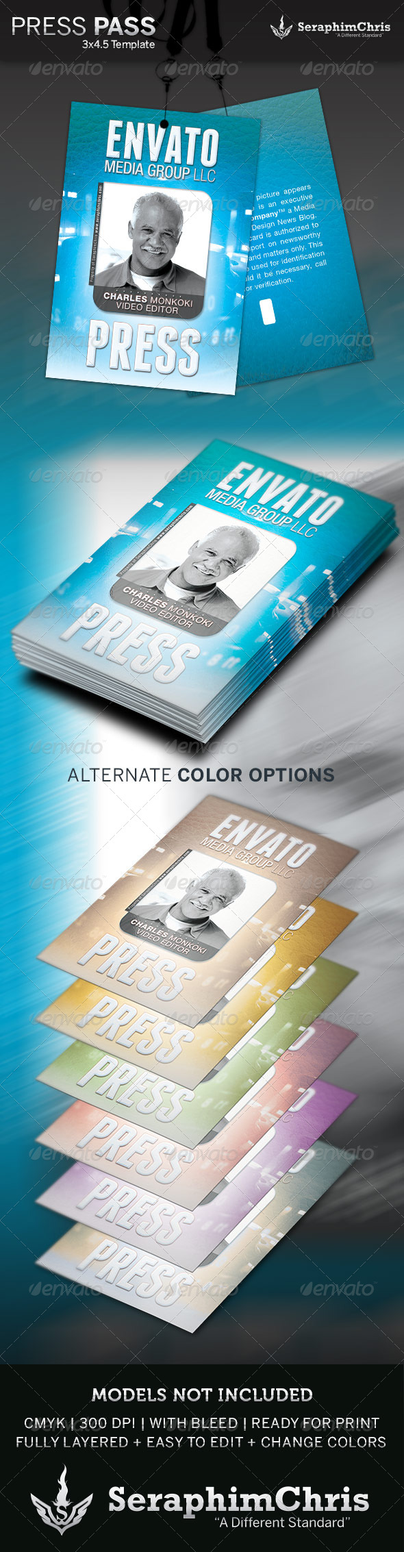 GraphicRiver Press Pass Template 4249564