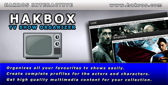 CodeCanyon Hakbox TV Show Organizer 4363589