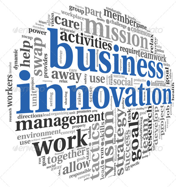 Business innovation in word tag cloud - Stock Photo - Images