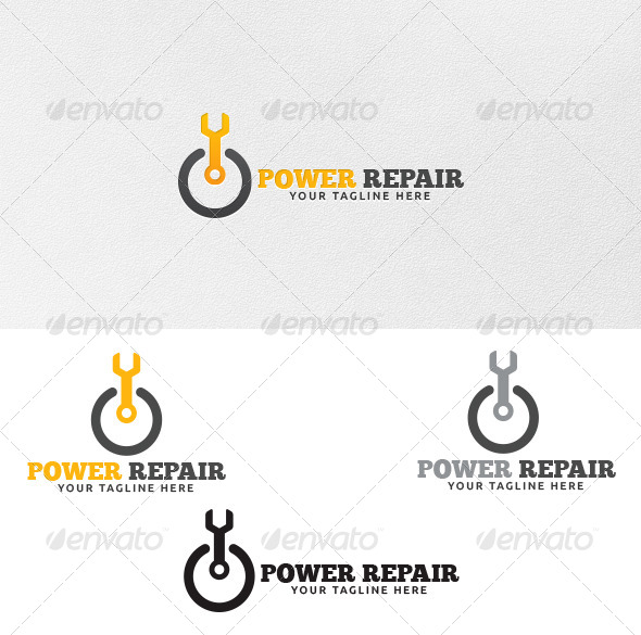 GraphicRiver Power Repair Logo Template 4284815