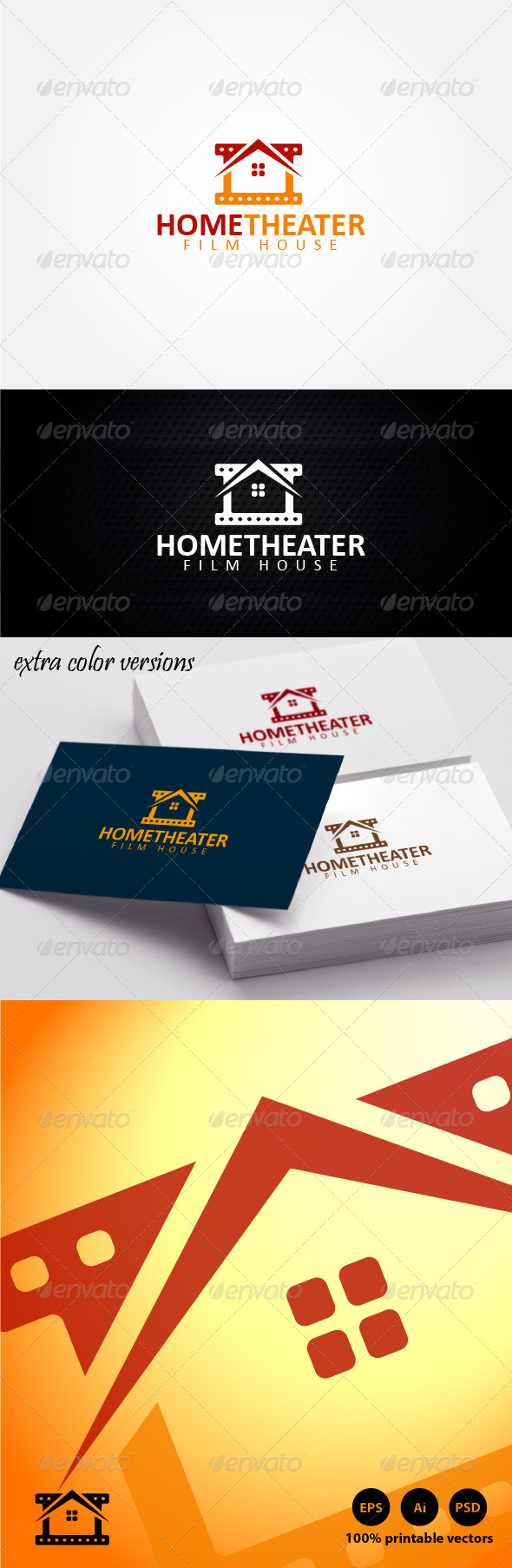 Home Theater Logo - Buildings Logo Templates