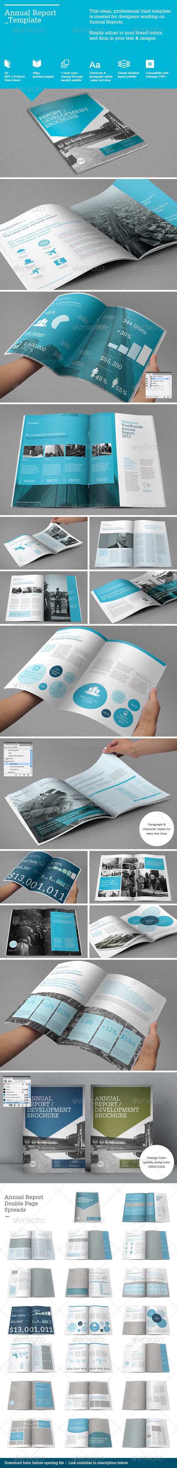 GraphicRiver Annual Report Template 4238291