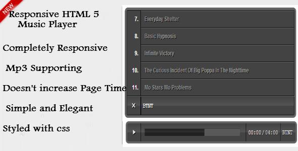 CodeCanyon Responsive HTML 5 Music Player 4363905