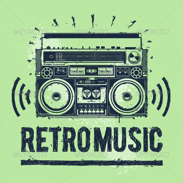 GraphicRiver Old-School Tape Recorder 4363960