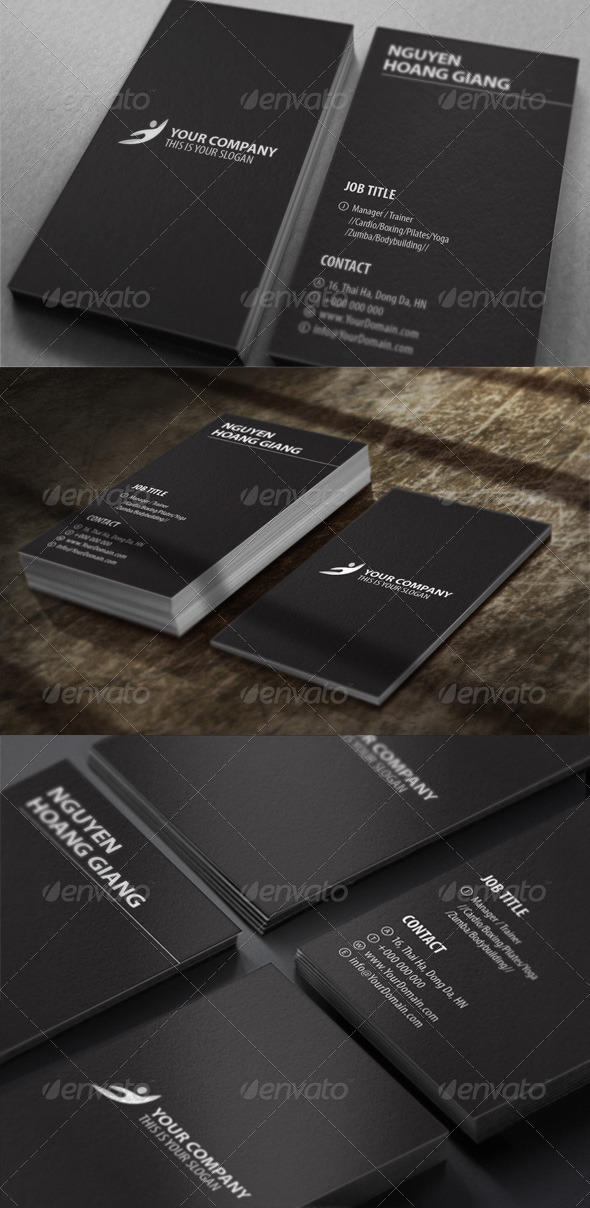 GraphicRiver Fitness Center Business Card 4245888