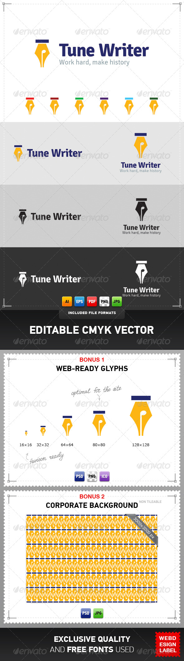 GraphicRiver Tune Writer Logo 4286537