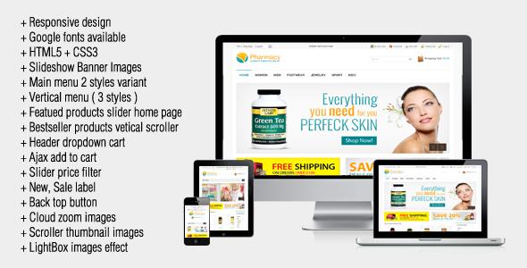 Magento Themes Free Blog Pharmacy Responsive Magento Theme Free