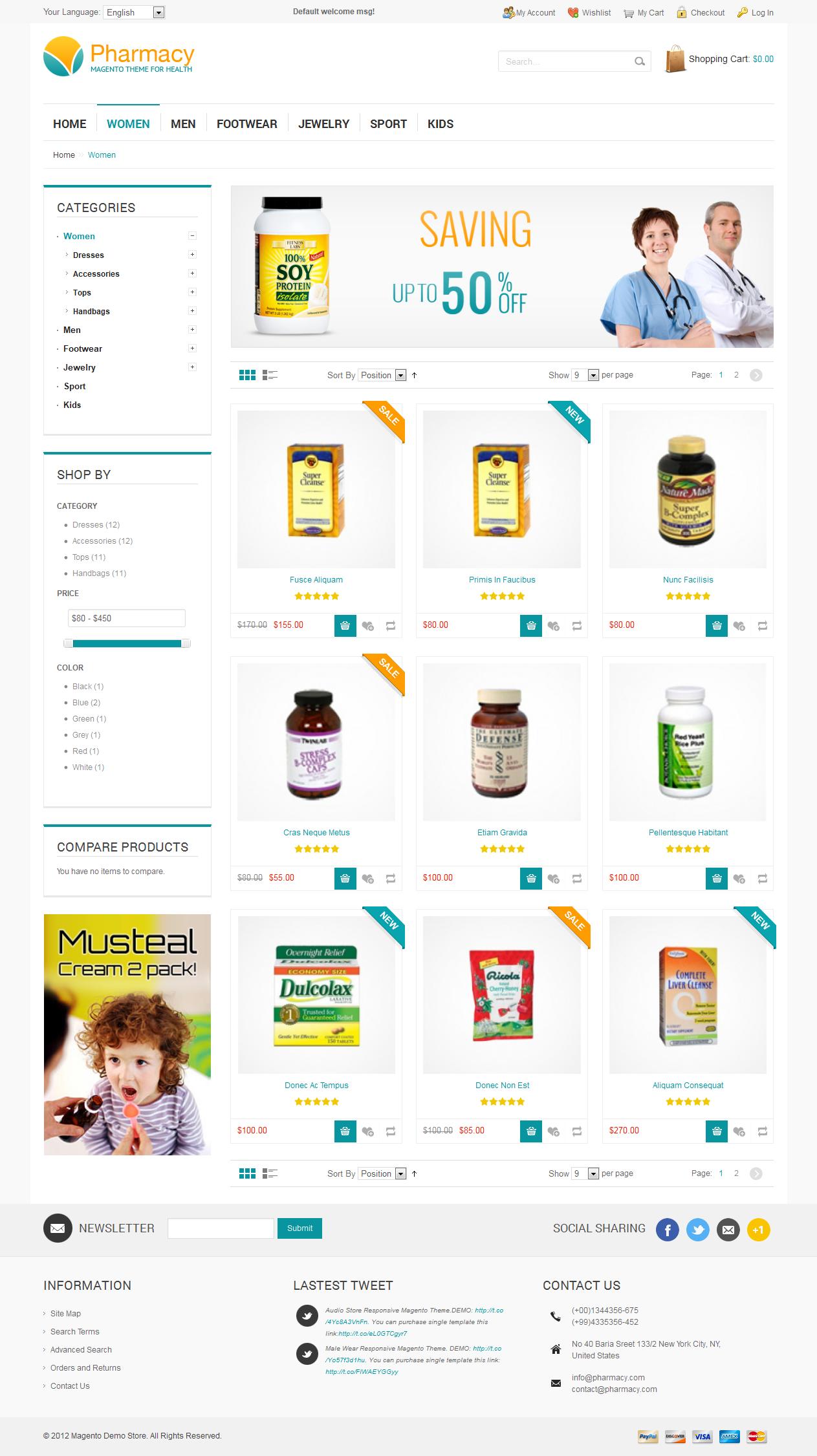 Pharmacy - Responsive Magento Theme
