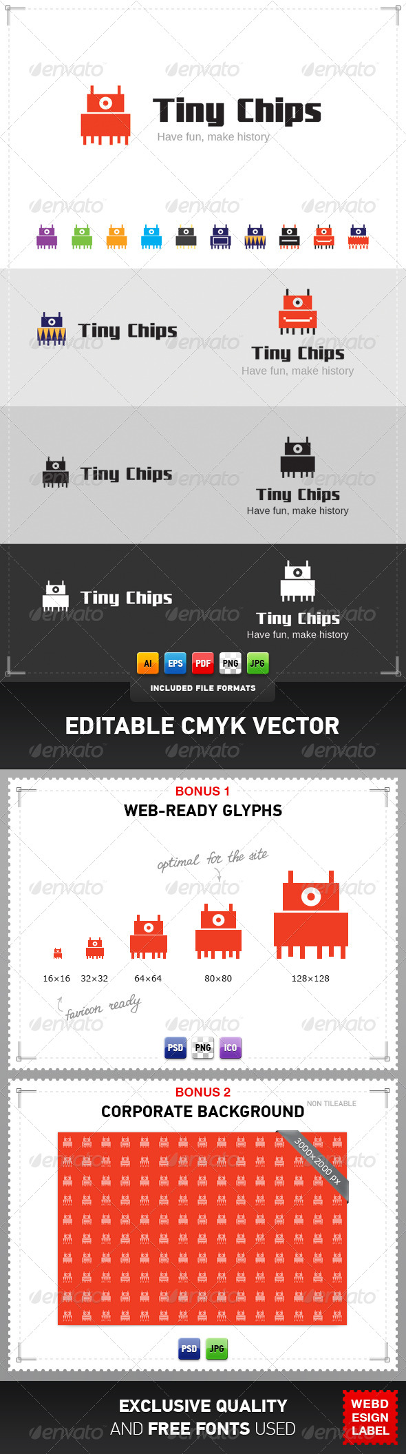GraphicRiver Tiny Chips Logo 4286533