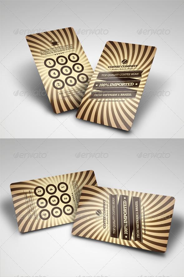 GraphicRiver Retro Coffee Vip Card 4365431