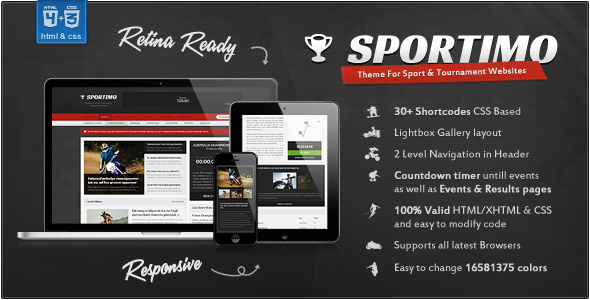ThemeForest Sportimo Sport & Events Magazine HTML Template 4365680