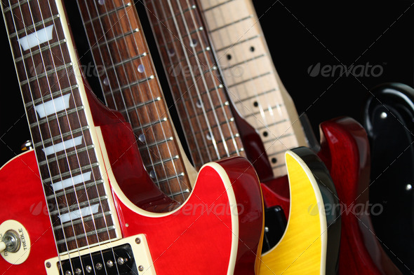 PhotoDune Closeup of Electric Guitars 468453