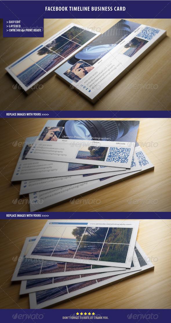 GraphicRiver Facebook Timeline Business Card 4251706