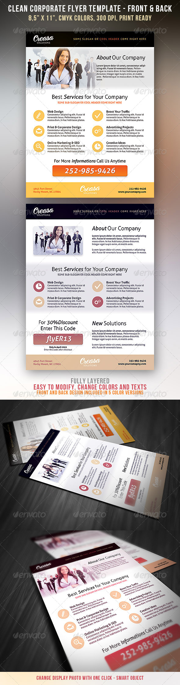GraphicRiver Clean Corporate Flyer 4261739