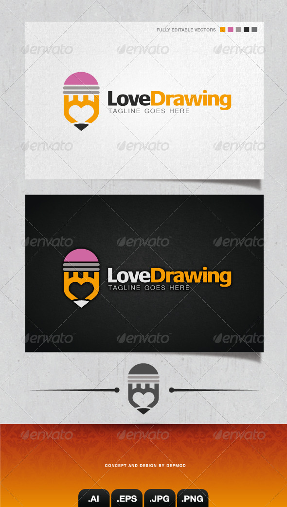 GraphicRiver Love Drawing Logo 4146991
