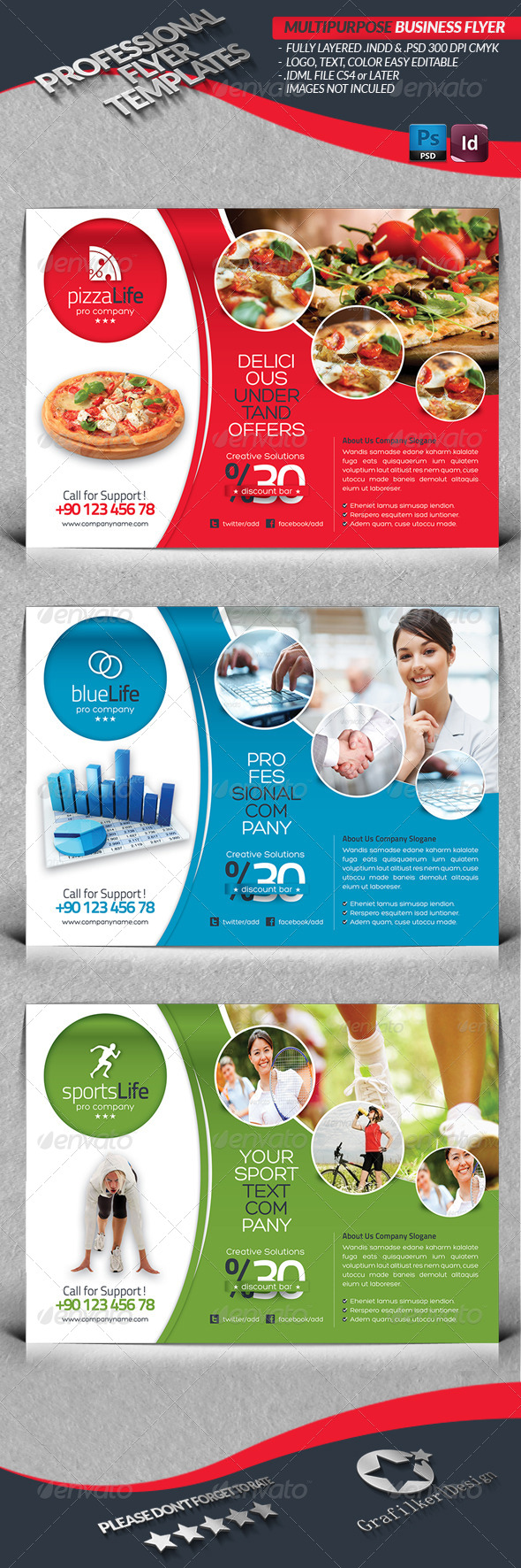 GraphicRiver Multipurpose Flyer Template 4366069