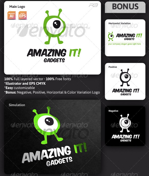 GraphicRiver Amazing It Gadgets Logo Template 3848396