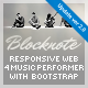Blocknote - Responsive Website for Band/Musician - ThemeForest Item for Sale