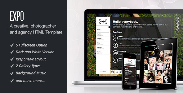 ThemeForest Expo Responsive HTML5 Template 4367100