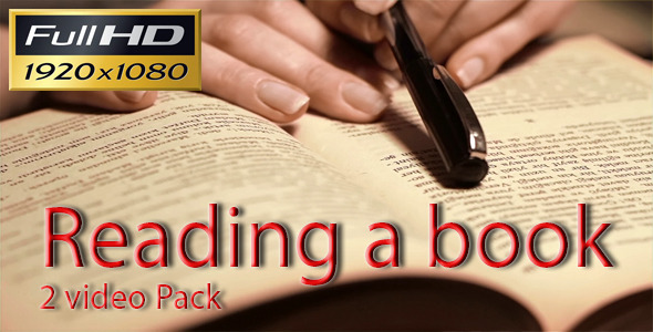 Reading a Book 2 Pack