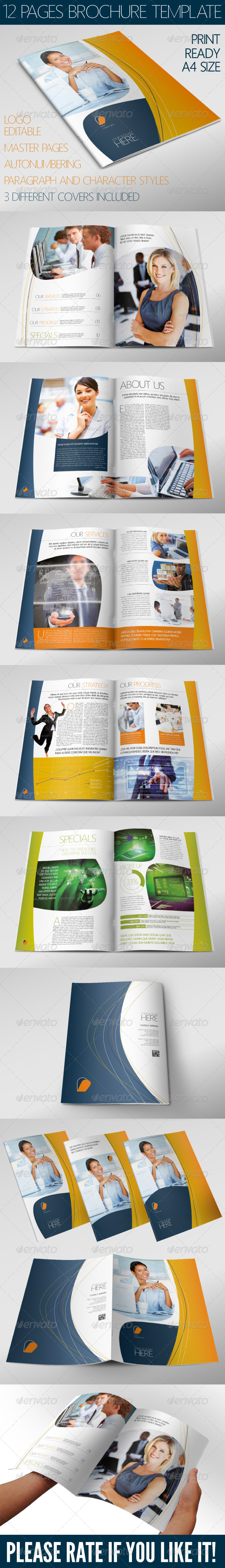 Corporate Brochure 12 Pages A4 - Print Templates