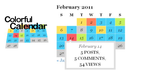 Colourful Calender - WordPress Calendar Plugin
