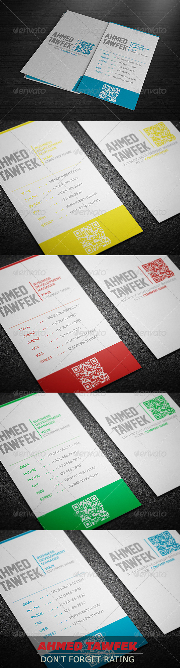 GraphicRiver Creative Color Business Card 4141871