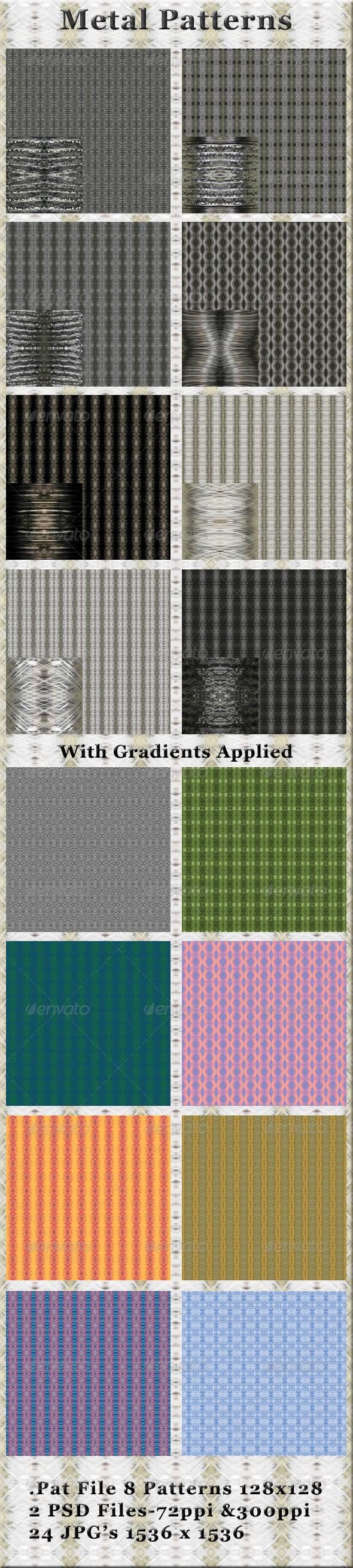 GraphicRiver 8 Metal Patterns 4367580