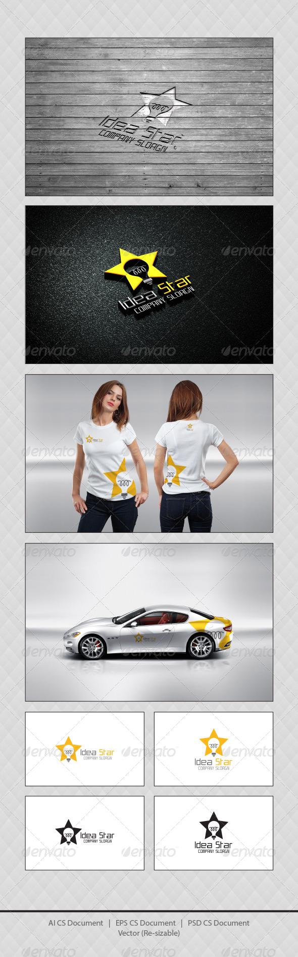 GraphicRiver Idea Star Logo Templates 4367592