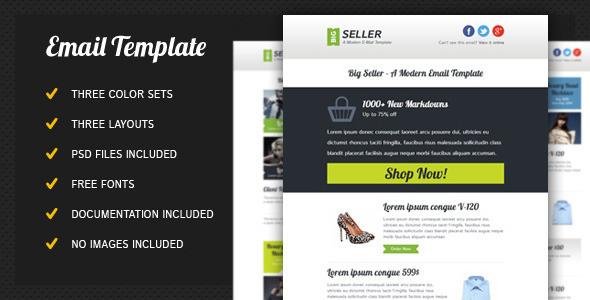 ThemeForest BigSeller Modern Email Template Newsletter 4367903