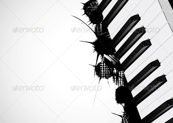 GraphicRiver Background from the Piano 4367961