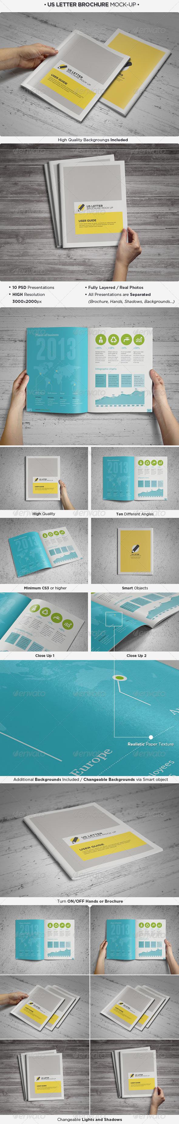 GraphicRiver US Letter Brochure Catalog Mock-Up 4368110
