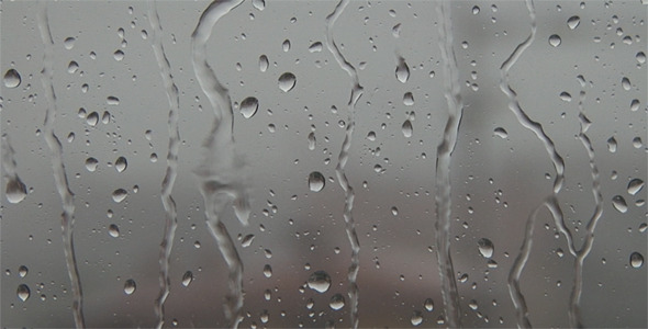 Raindrops on Window During a Thunderstorm