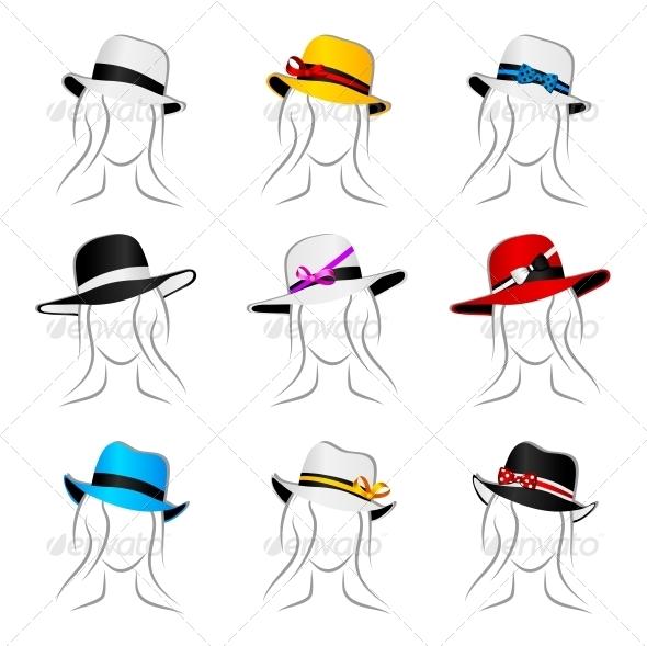 GraphicRiver Female Hats 4368200