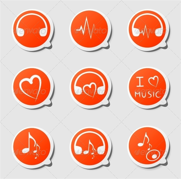 GraphicRiver Labels Music 4368219