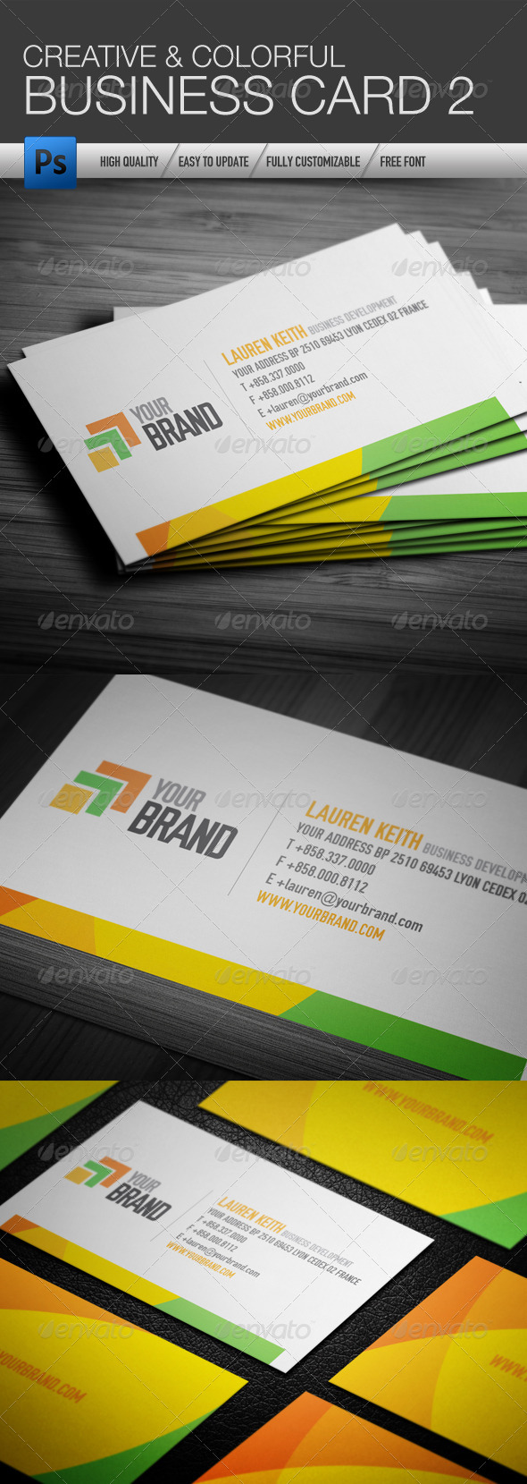 Creative and Colorful Business Card 2