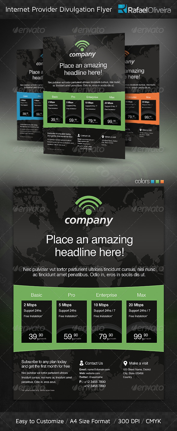 GraphicRiver Internet Provider Divulgation Flyer 4368560