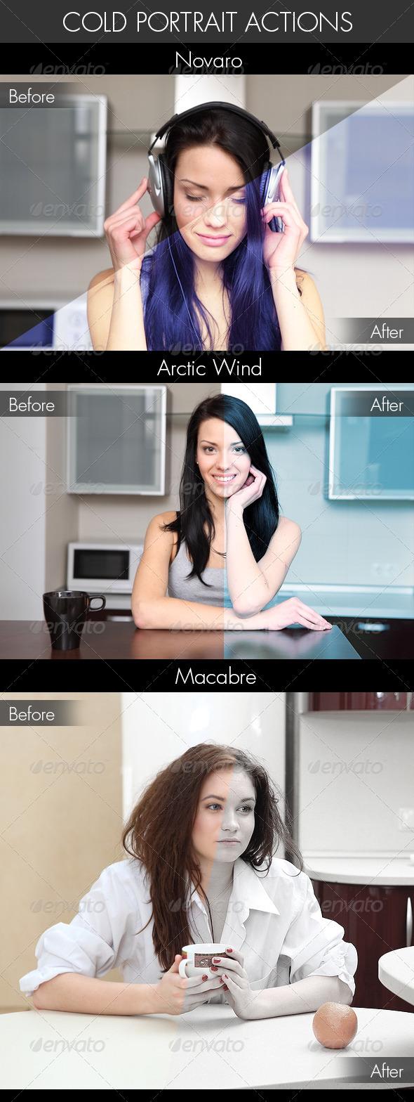 GraphicRiver Cold Portrait Actions 4310263