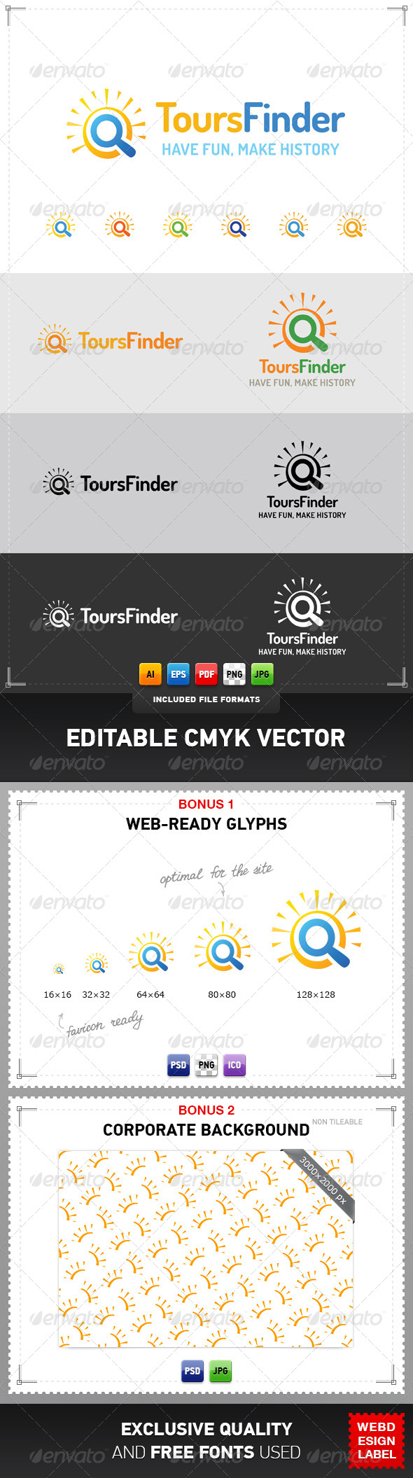 GraphicRiver Tours Finder Logo 4369194