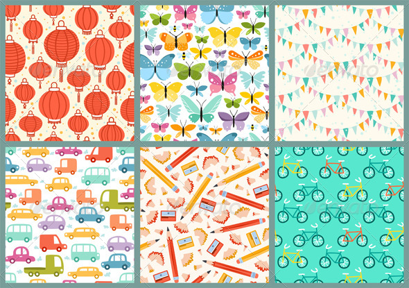 GraphicRiver Various Patterns 4369338